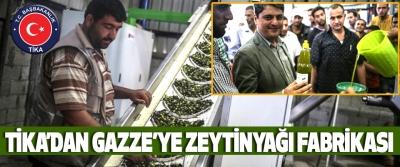 Tika'dan Gazze'ye Zeytinyağı Fabrikası