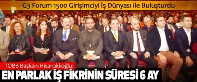 TOBB Başkanı Hisarcıklıoğlu: En Parlak İş Fikrinin Süresi 6 Ay