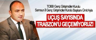 TOBB Samsun İl Genç Girişimciler Kurulu Başkanı Ümit Ayla; Uçuş sayısında Trabzon'u geçemiyoruz!