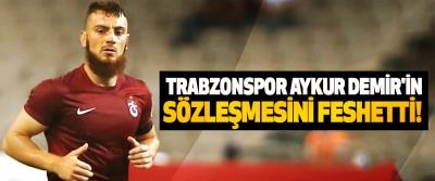 Trabzonspor aykur demir'in sözleşmesini feshetti!
