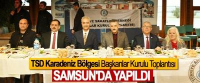 TSD Karadeniz Bölgesi Başkanlar Kurulu Toplantısı Samsun'da Yapıldı