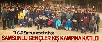TÜGVA Samsun koordinesinde Samsunlu Gençler Kış Kampına Katıldı