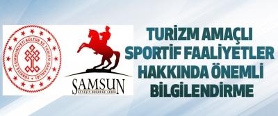 Turizm Amaçlı Sportif Faaliyetler Hakkında Önemli Bilgilendirme