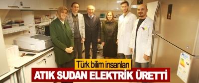 Türk bilim insanları, Atık Sudan Elektrik Üretti