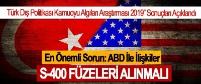 """Türk Dış Politikası Kamuoyu Algıları Araştırması 2019"""" Sonuçları Açıklandı"""