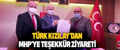 Türk Kızılay'dan MHP'ye Teşekkür Ziyareti