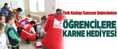 Türk Kızılayı Samsun Şubesinden Öğrencilere Karne Hediyesi
