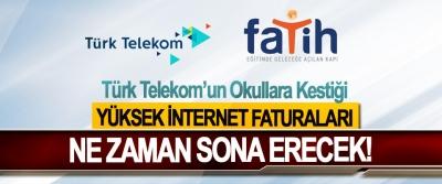 Türk Telekom'un Okullara Kestiği Yüksek İnternet Faturaları Ne Zaman Sona Erecek!