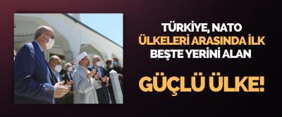 Türkiye, ANTO Ülkeleri Arasında İlk Beşte Yerini Alan Güçlü Bir Ülke!