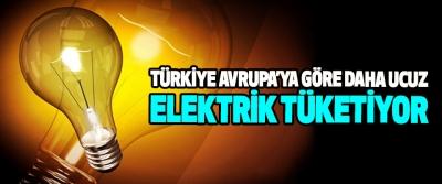 Türkiye Avrupa'ya Göre Daha Ucuz Elektrik Tüketiyor