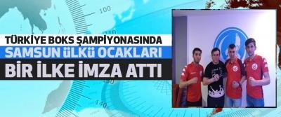 Türkiye Boks Şampiyonasında Samsun Ülkü Ocakları Bir İlke İmza Attı