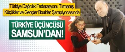 Türkiye Dağcılık Federasyonu Tırmanış Küçükler ve Gençler Boulder Şampiyonası Türkiye üçüncüsü Samsun'dan!