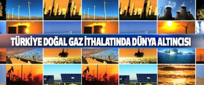 Türkiye Doğal Gaz İthalatında Dünya Altıncısı