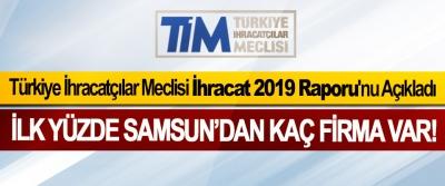 Türkiye İhracatçılar Meclisi İhracat 2019 Raporu'nu Açıkladı, İlk yüzde Samsun'dan kaç firma var!
