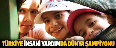Türkiye İnsani Yardımda Dünya Şampiyonu
