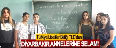 Türkiye Liseliler Birliği TLB'den Diyarbakır annelerine selam!