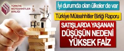 Türkiye Müteahhitler Birliği Raporu; Satışlarda Yaşanan Düşüşün Nedeni Yüksek Faiz