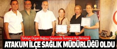 Türkiye Organ Bağışçı Sayısında Temmuz Ayı Birincisi Atakum İlçe Sağlık Müdürlüğü Oldu