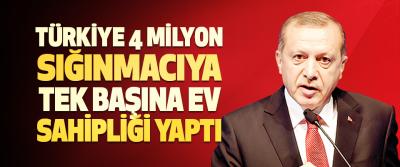 """""""Türkiye, Sayıları 4 Milyonu Bulan Sığınmacıya Tek Başına Ev Sahipliği Yaptı"""""""