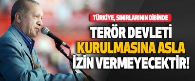 Türkiye, Sınırlarının Dibinde Terör Devleti Kurulmasına Asla İzin Vermeyecektir!