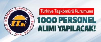 Türkiye Taşkömürü Kurumuna 1000 Personel Alımı Yapılacak!