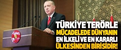 Türkiye Terörle Mücadelede Dünyanın En İlkeli ve En Kararlı Ülkesinden Birisidir!