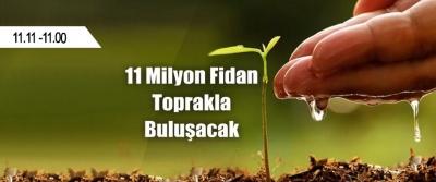 Türkiye'de 11 Milyon Fidan Toprakla Buluşuyor!