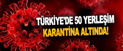 Türkiye'de 50 Yerleşim Karantina Altında!