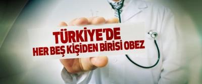 Türkiye'de Her Beş Kişiden Birisi Obez