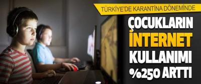 Türkiye'de Karantina Döneminde Çocukların İnternet Kullanımı yüzde 250 Arttı