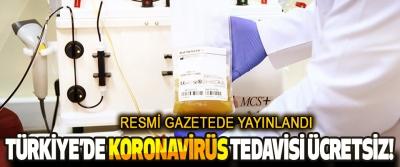 Türkiye'de Koronavirüs Tedavisi Ücretsiz!