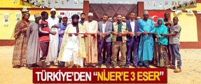 """Türkiye'den """"Nijer'e 3 eser"""""""