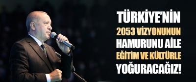 Türkiye'nin 2053 Vizyonunun Hamurunu Aile, Eğitim ve Kültürle Yoğuracağız!