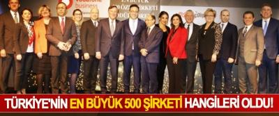 Türkiye'nin en büyük 500 şirketi hangileri oldu!