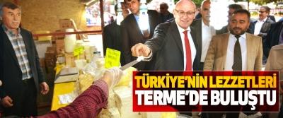 Türkiye'nin Lezzetleri Terme'de Buluştu
