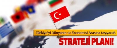 Türkiye'yi Dünyanın 10 Ekonomisi Arasına taşıyacak Strateji planı!