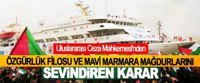 Uluslararası Ceza Mahkemesi'nden Özgürlük Filosu Ve Mavi Marmara Mağdurlarını Sevindiren Karar