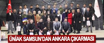ÜniAk Samsun'dan Ankara Çıkarması