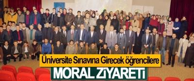 Üniversite Sınavına Girecek öğrencilere Moral Ziyareti