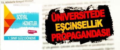 Üniversitede eşcinsellik propagandası!