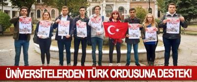 Üniversitelerden Türk Ordusuna destek!