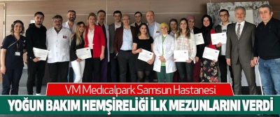 Vm Medıcalpark Samsun Hastanesi Yoğun Bakım Hemşireliği Programı İlk Mezunlarını Verdi