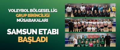 Voleybol Bölgesel Lig Grup Birinciliği Müsabakaları Samsun Etabı Başladı
