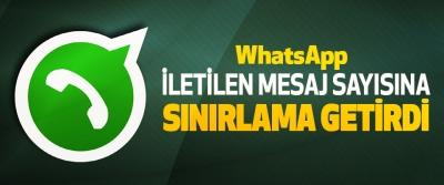 WhatsApp İletilen Mesaj Sayısına Sınırlama Getirdi