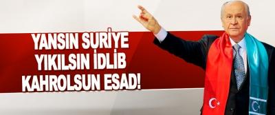 Yansın Suriye Yıkılsın İdlib Kahrolsun Esad!