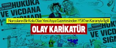 Yeni Asya Gazetesinden Ysk'nın Kararıyla İlgili Olay Karikatür