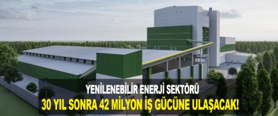 Yenilenebilir Enerji Sektörü 30 yıl sonra 42 milyon iş gücüne ulaşacak!