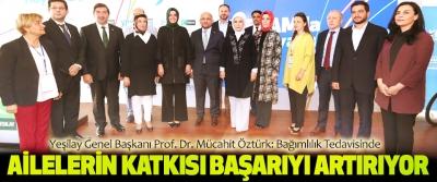 Yeşilay genel başkanı prof. Dr. Mücahit öztürk:Bağımlılık Tedavisinde Ailelerin Katkısı Başarıyı Artırıyor