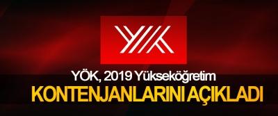YÖK, 2019 Yükseköğretim Kontenjanlarını Açıkladı