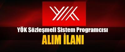 YÖK Sözleşmeli Sistem Programcısı Alım İlanı